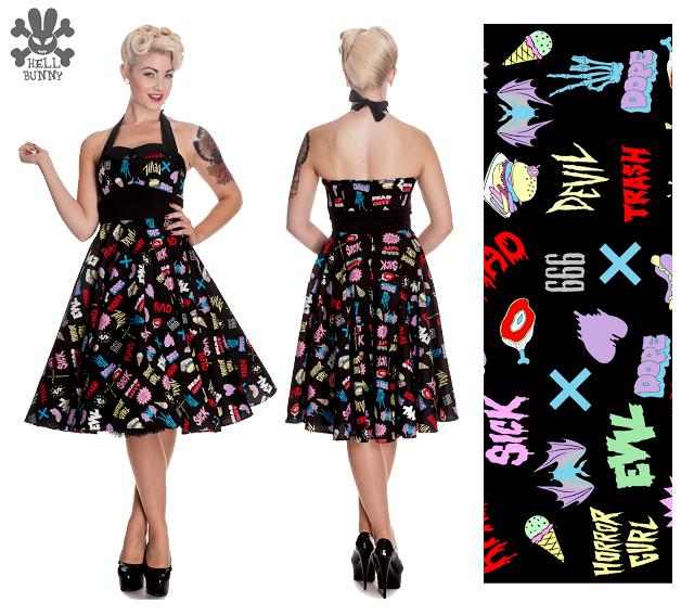 Cuidatuimagen, Hell Bunny, pin-up dresses, fiftie's dresses, trendy looks 9