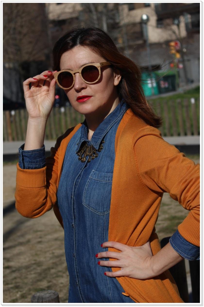 Cuidatuimagen, Ribot Sunglasses, Barcelona, gafas de madera, spring look 5