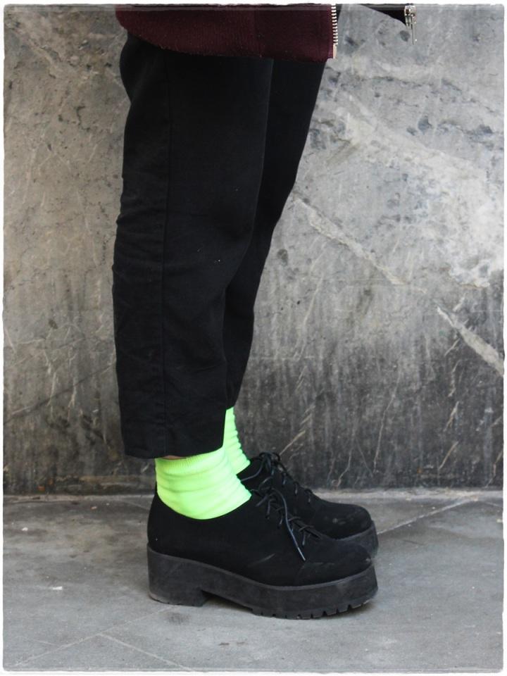 Cuidatuimagen, Street Style, print mix, fluor socks, Raval, Barcelona 4