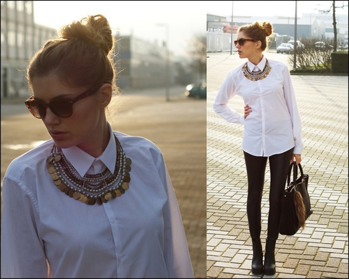 Street Style, Statement Collars, Statement necklaces, collares, trendy looks, spring hit, Street style 11