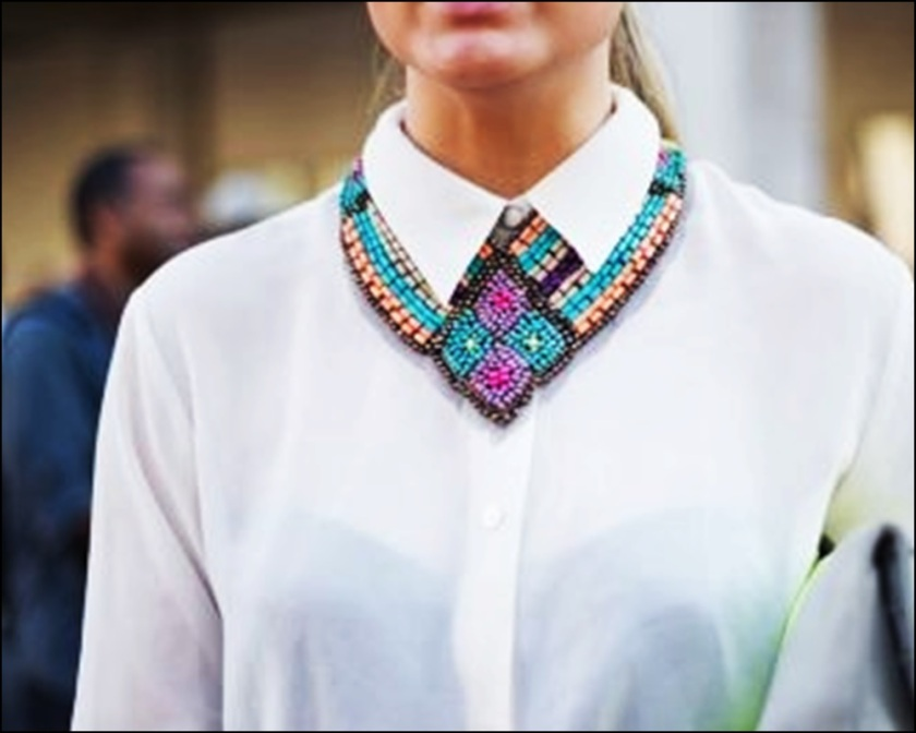 Street Style, Statement Collars, Statement necklaces, collares, trendy looks, spring hit, Street style 12