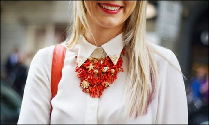 Street Style, Statement Collars, Statement necklaces, collares, trendy looks, spring hit, Street style 9