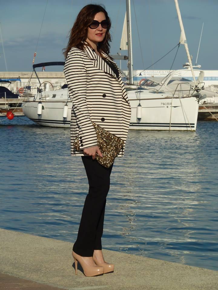Alicia, Cuidatuimagen, navy looks, Spring looks 2014, street style, marinero, rayas, stripes, 1