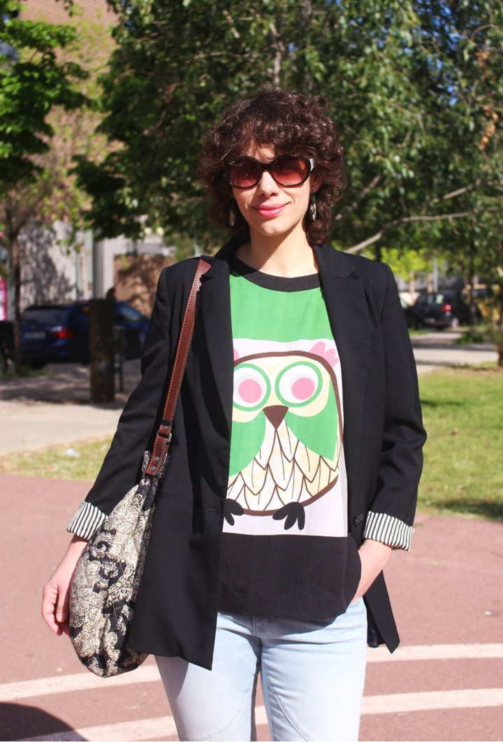 Americana Easywear El Corte Inglés, Camiseta Buho Zara, Tejanos H&M, Zapatos Pull & Bear, Bolso Encants Vells, spring looks, Cuida de ti, Cuida tu imagen (3)