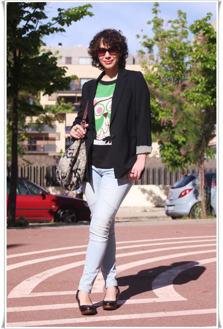 Americana Easywear El Corte Inglés, Camiseta Buho Zara, Tejanos H&M, Zapatos Pull & Bear, Bolso Encants Vells, spring looks, Cuida de ti, Cuida tu imagen (8)