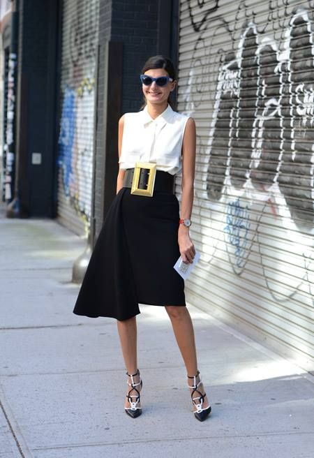 Giovanna battaglia, Street Style, Black & White, Cuidatuimagen, spring looks, trends, outfits