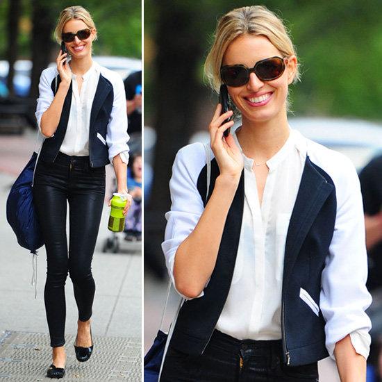 Karolina Kurkova, Street Style, Black & White, Cuidatuimagen, spring looks, trends, outfits