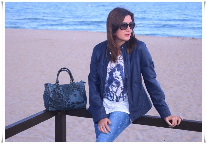 Cuida de ti, cuida tu imagen, Blue, jeans, stars, beach, street style, looks 10