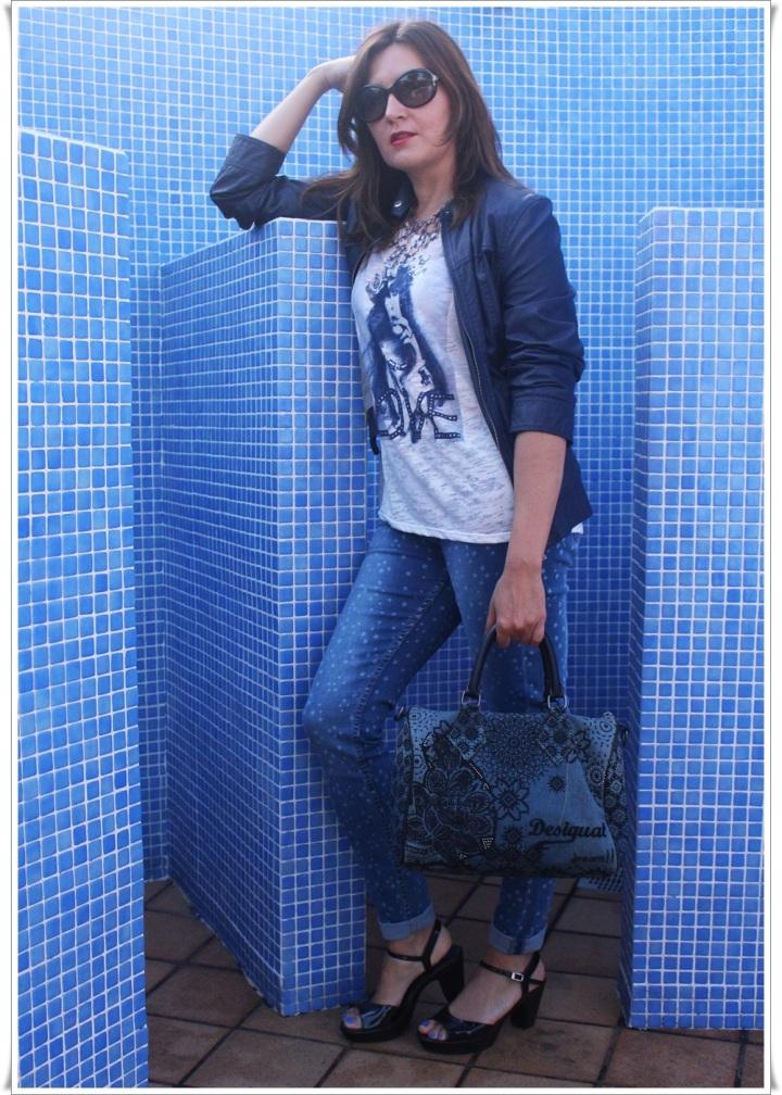 Cuida de ti, cuida tu imagen, Blue, jeans, stars, beach, street style, looks 7