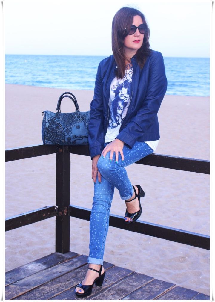 Cuida de ti, cuida tu imagen, Blue, jeans, stars, beach, street style, looks 8
