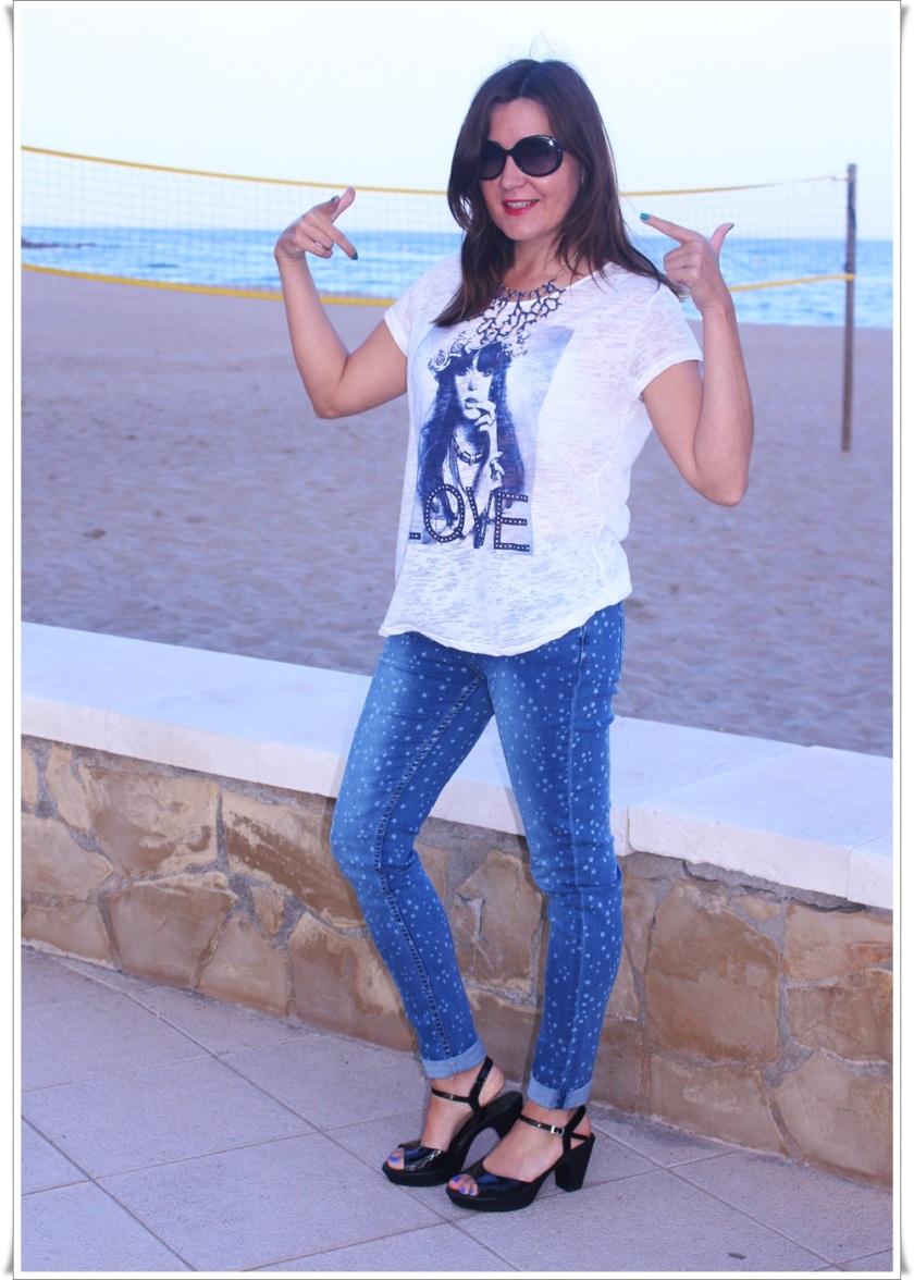 Cuida de ti, cuida tu imagen, Blue, jeans, stars, beach, street style, looks 9