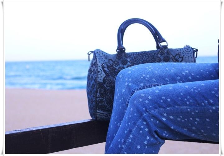 Cuida de ti, cuida tu imagen, Blue, jeans, stars, beach, street style, looks