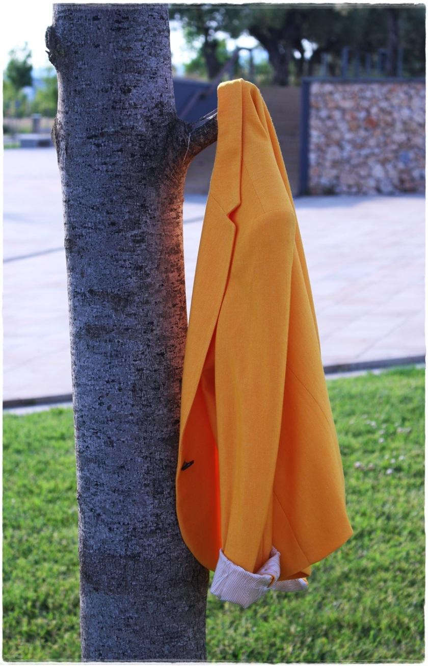 Cuida de ti, Cuida tu imagen, spring looks, street style, fedora hat, yellow blazer zara, skirt H&M, bag Pepe Jeans 7