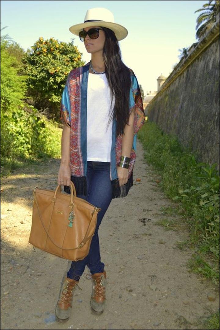 STREET STYLE, Cuida de ti, Cuida tu imagen, street style, looks, kimono con flecos, summer trend, inspiration 3