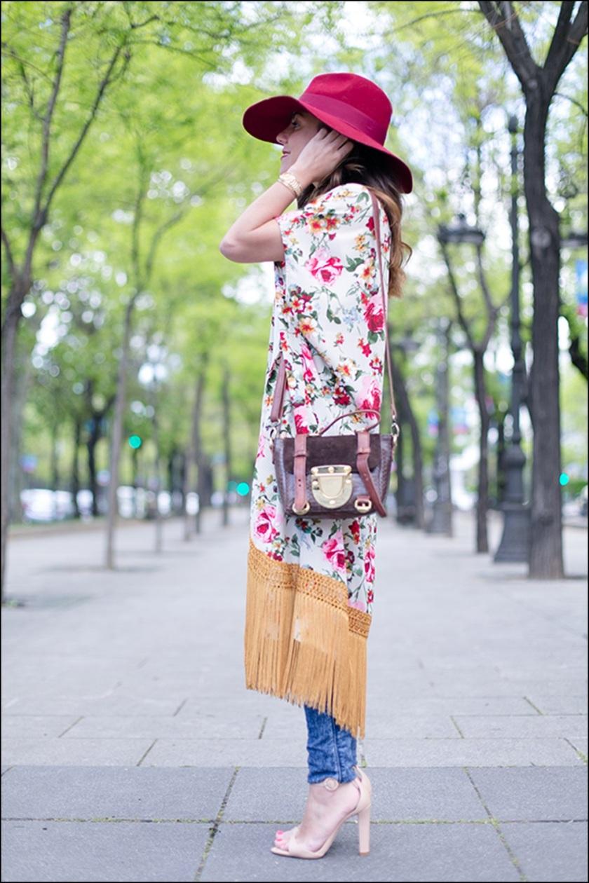 STREET STYLE, Cuida de ti, Cuida tu imagen, street style, looks, kimono con flecos, summer trend, inspiration 4