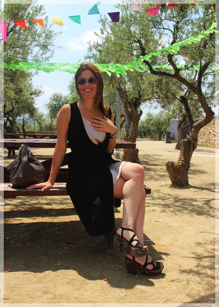 Cuida de ti, Cuida tu imagen, streeet style, summer looks, trendy looks, looks de verano, trends, Vestido  El Corte Inglés,  Zapatos Pons Quintana, Gafas Ray-Ban Wayfare, Bolso Guess, Reloj Viceroy 6