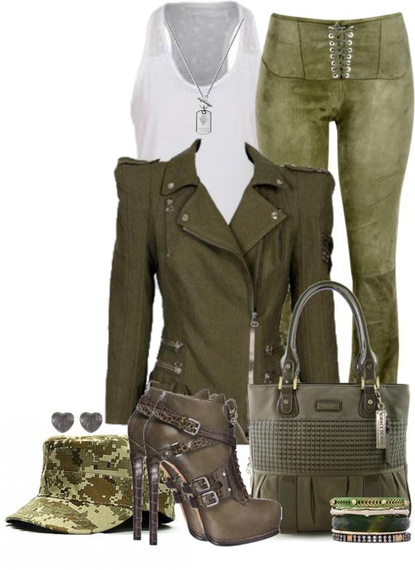 Cuida de ti, cuida tu imagen, tendencias otoño 2014, trendy looks auti¡umn 2014, khaki colour, military style 4