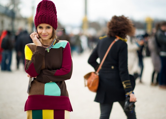 Cuida de ti, cuida tu imagen, gorros de punto, street style, tendenciaas invierno 2014, Miroslava Duma 2