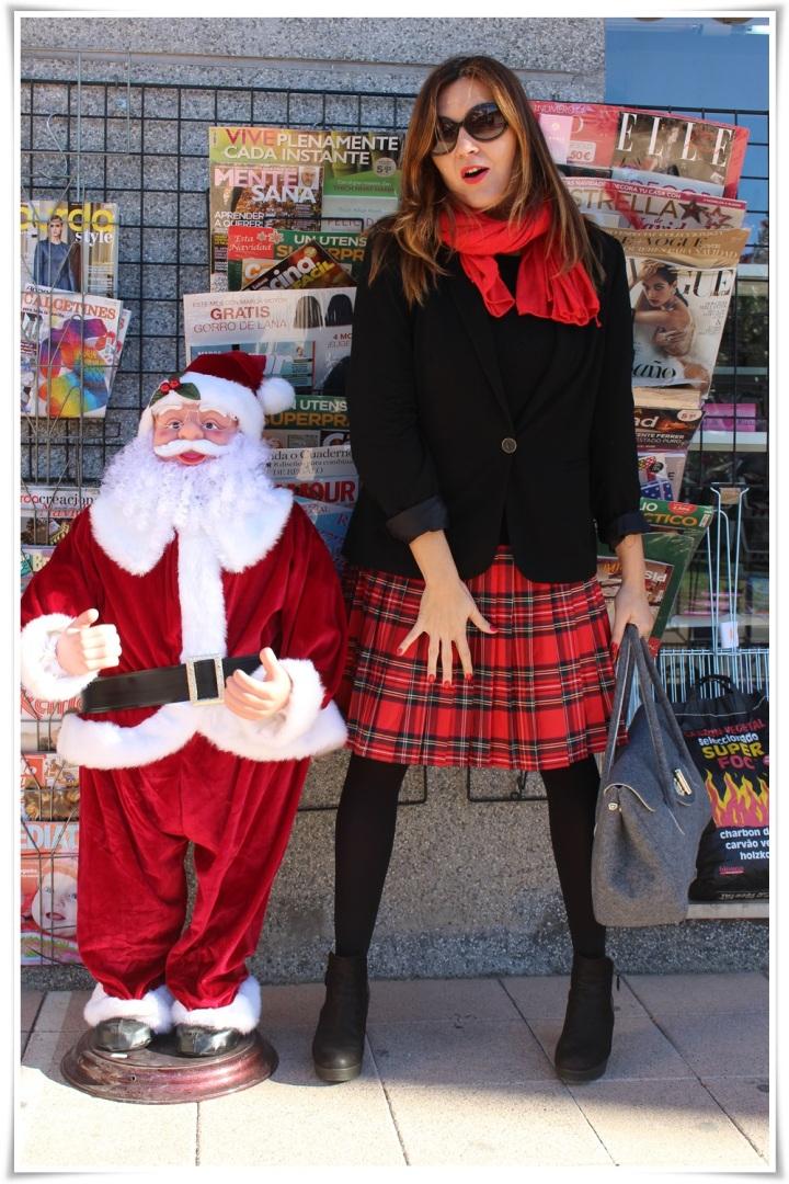 Cuida de ti, cuida tu imagen, falda tartán, escocesa, scotish, street style, winter looks 2