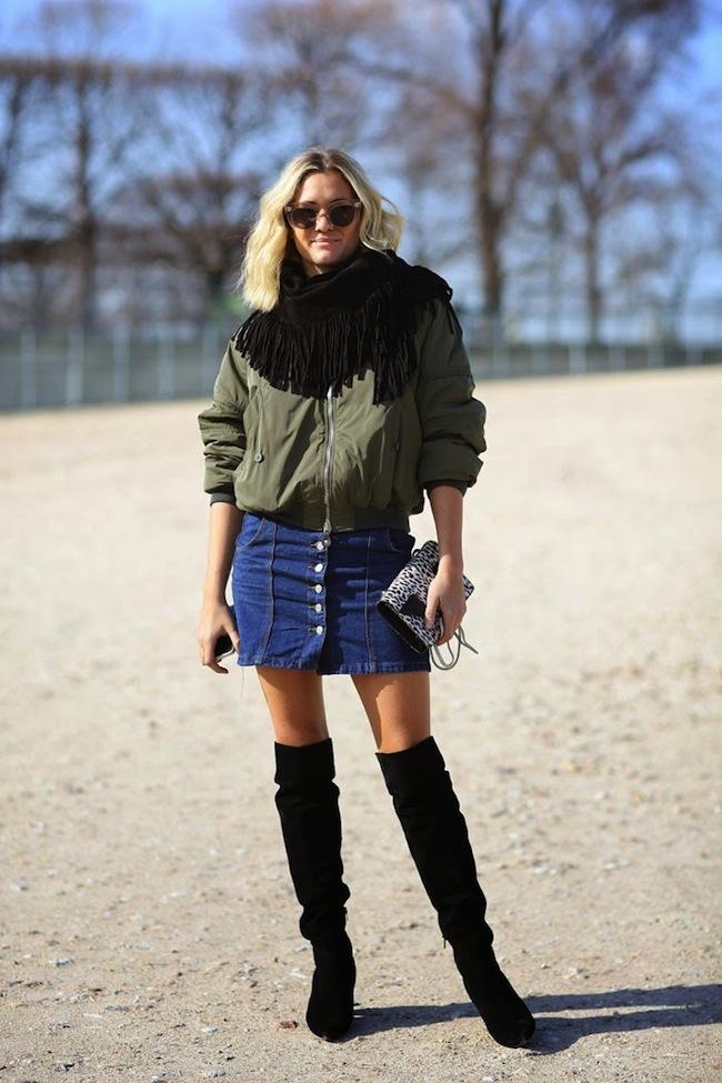 Cuida de ti, cuida tu imagen, Tendencias primavera, spring, summer, trends, denim skirt, falda tejana abotonada, street style 3