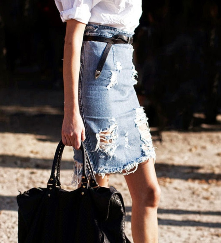 Cuida de ti, cuida tu imagen, Tendencias primavera, spring, summer, trends, denim skirt, falda tejana abotonada, street style 7