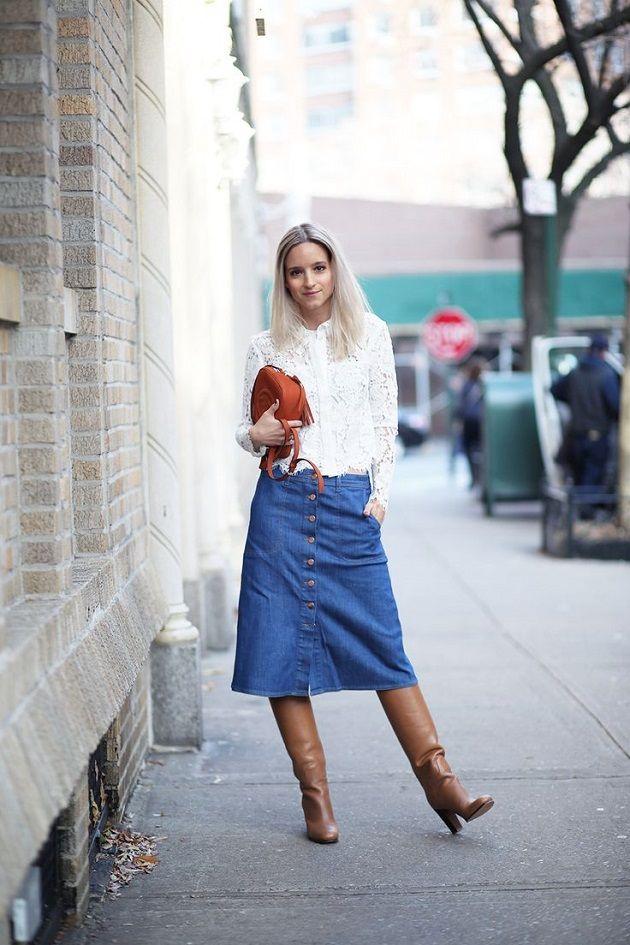 Cuida de ti, cuida tu imagen, Tendencias primavera, spring, summer, trends, denim skirt, falda tejana abotonada, street style