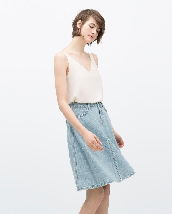 Zara 25,95, Cuida de ti, cuida tu imagen, Tendencias primavera, spring, summer, trends, denim skirt, falda tejana abotonada, street style