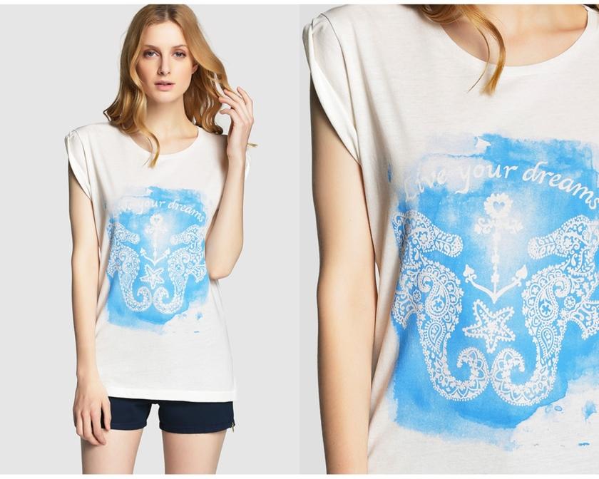 t.shirt Formula Joven El Corte Inglés, Cuida de ti, cuida tu imagen, Mykonos way of life, holidays, street style, blue, islas griegas