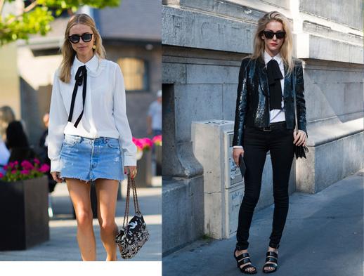 Cuida de ti, cuida tu imagen, Camisa blanca, lazada negra, tendencias otoño invierno SS2015, trends, black or white 3