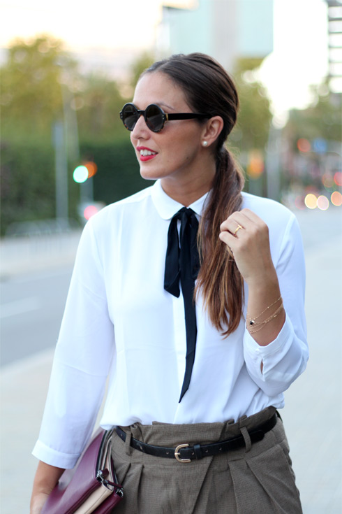 Cuida de ti, cuida tu imagen, Camisa blanca, lazada negra, tendencias otoño invierno SS2015, trends, black or white 5611