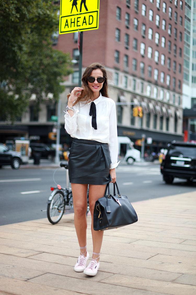 Cuida de ti, cuida tu imagen, Camisa blanca, lazada negra, tendencias otoño invierno SS2015, trends, black or white 643435