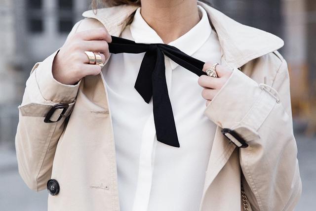 Cuida de ti, cuida tu imagen, Camisa blanca, lazada negra, tendencias otoño invierno SS2015, trends, black or white