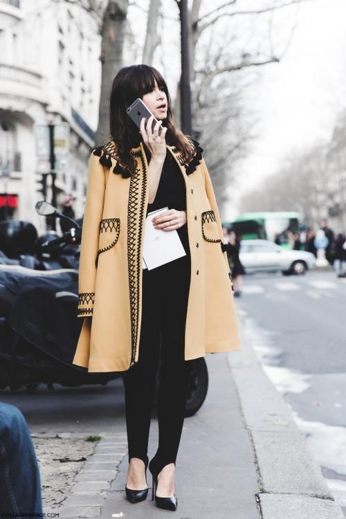 Cuida de ti, cuida tu imagen, fuseau, autumn trends, ,Paris_Fashion_Week-Fall_Winter_2015-Street_Style-PFW-Miroslava_Duma-Vita_Kin_Coat-2-790x1185