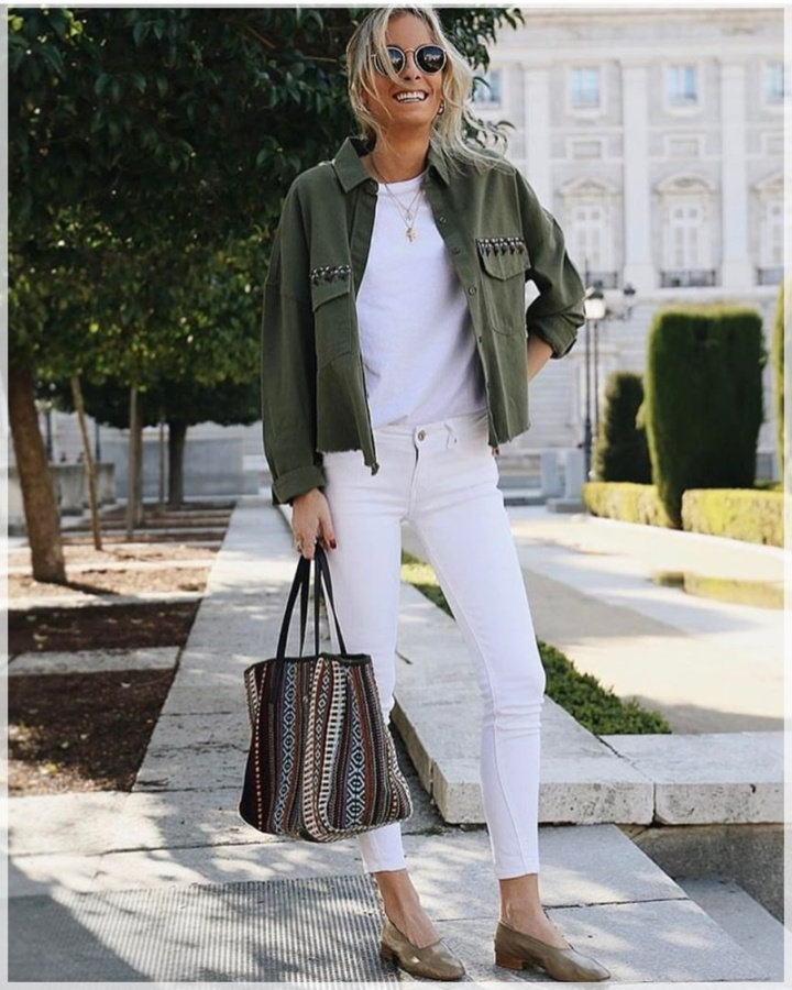 14 - Cuida de ti, Cuida tu imagen, tendencias primavera, Verde militar, trend, military trend, green, street style