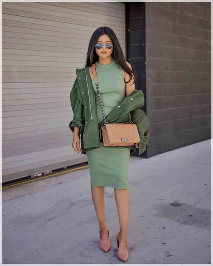 3 - Cuida de ti, Cuida tu imagen, tendencias primavera, Verde militar, trend, military trend, green, street style