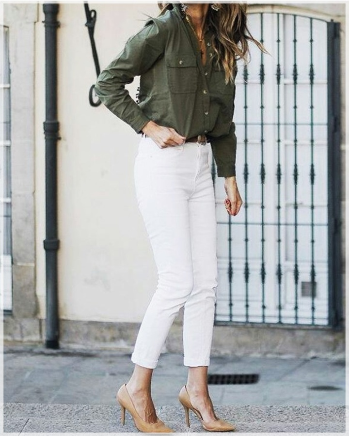 4 - Cuida de ti, Cuida tu imagen, tendencias primavera, Verde militar, trend, military trend, green, street style