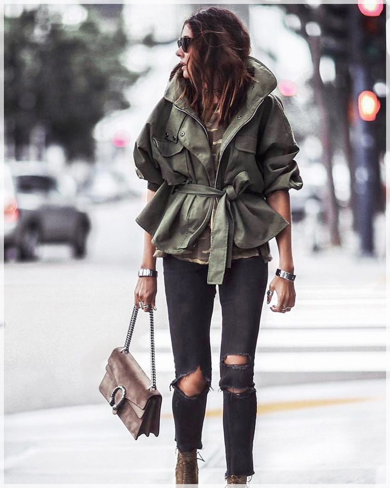 9 - Cuida de ti, Cuida tu imagen, tendencias primavera, Verde militar, trend, military trend, green, street style