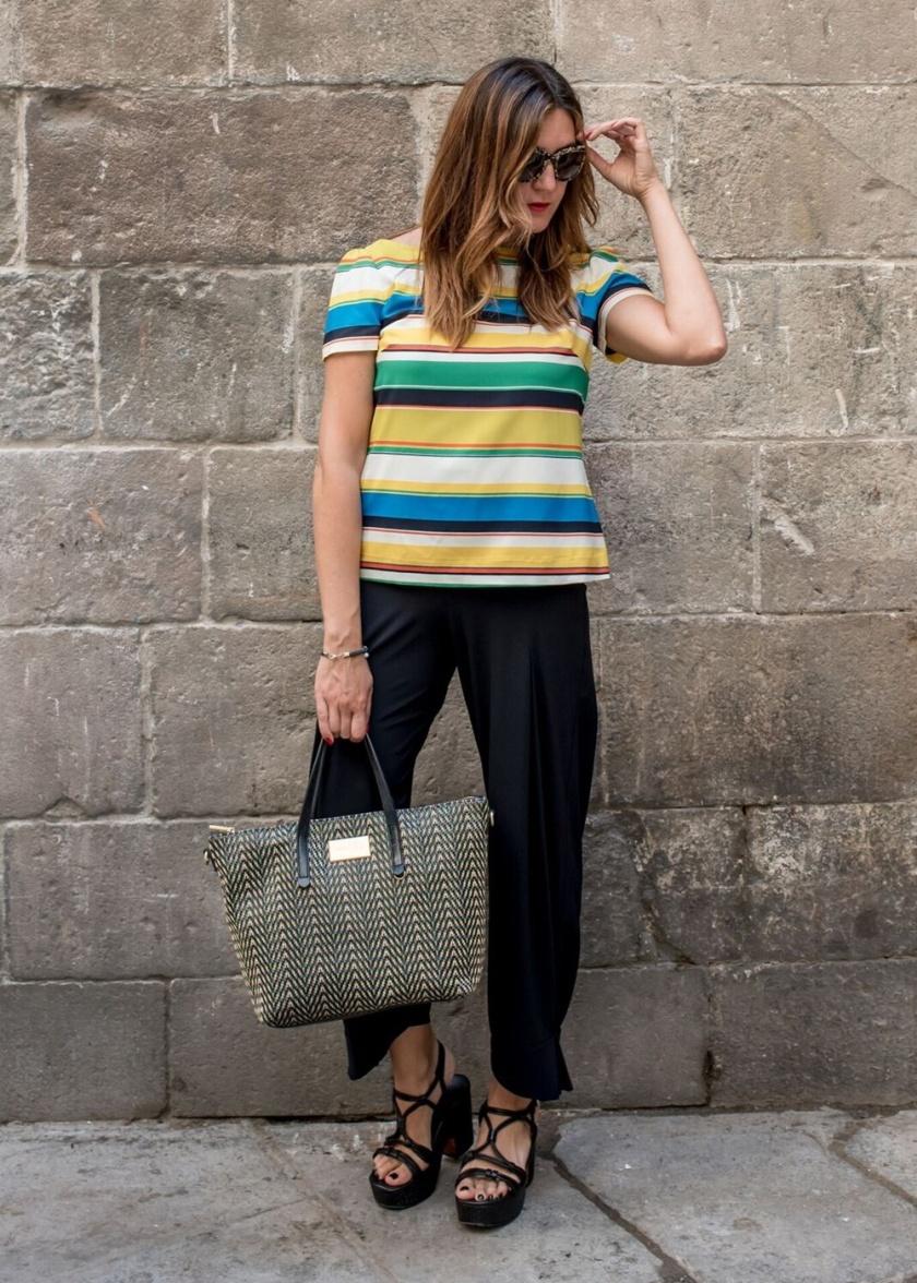 Cuida tu imagen, a rayas, looks de verano, summer trends, zapateria CASAS, Zara, bolso BIMBA & Lola 4