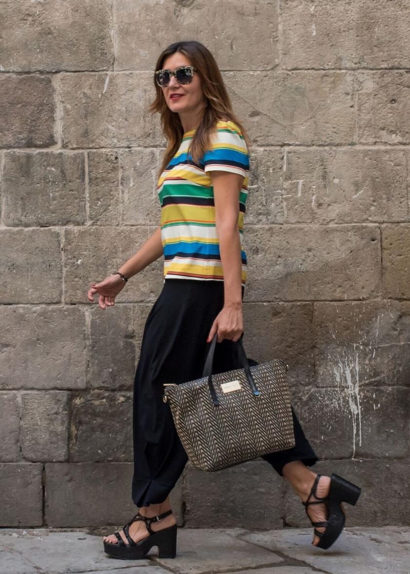 Cuida tu imagen, a rayas, looks de verano, summer trends, zapateria CASAS, Zara, bolso BIMBA & Lola 6