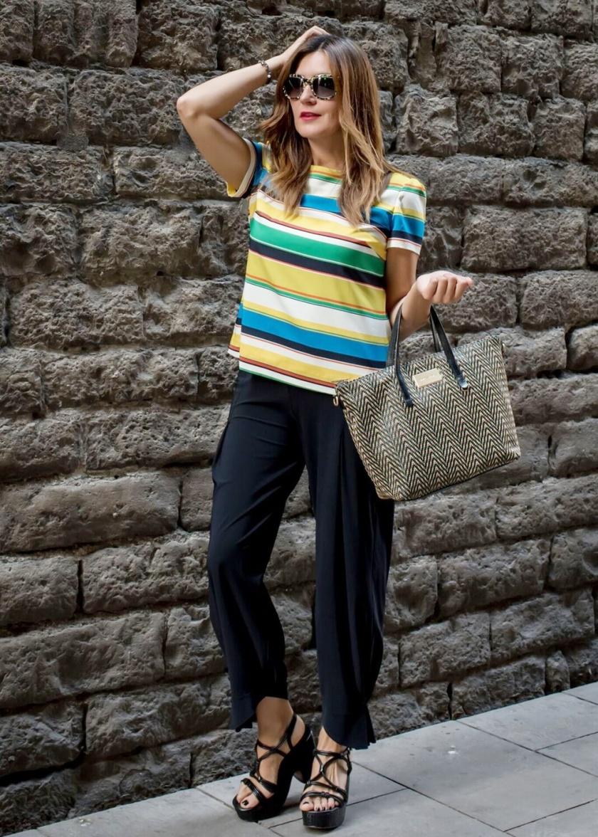 Cuida tu imagen, a rayas, looks de verano, summer trends, zapateria CASAS, Zara, bolso BIMBA & Lola