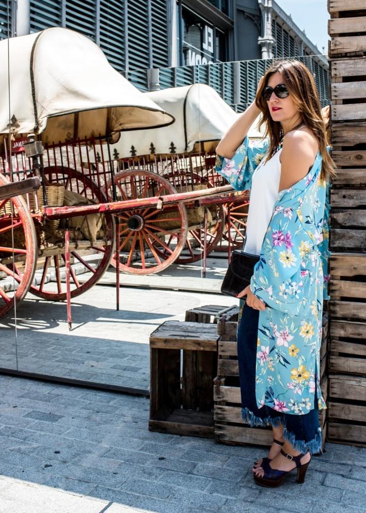 Cuida tu imagen, Tendencias, Kimonos, Trends, summer trends, light blue, stradivarius, berska, pons quintana, looks, street style, inspiration, bloguer