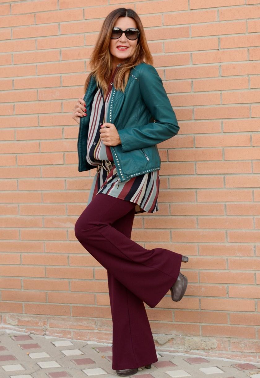 Cuida tu imagen, tendencias otoño, autumn trends, seventies, granate, verde, gris, colores de otoño, Alicia Santiago, Polca Moda 2