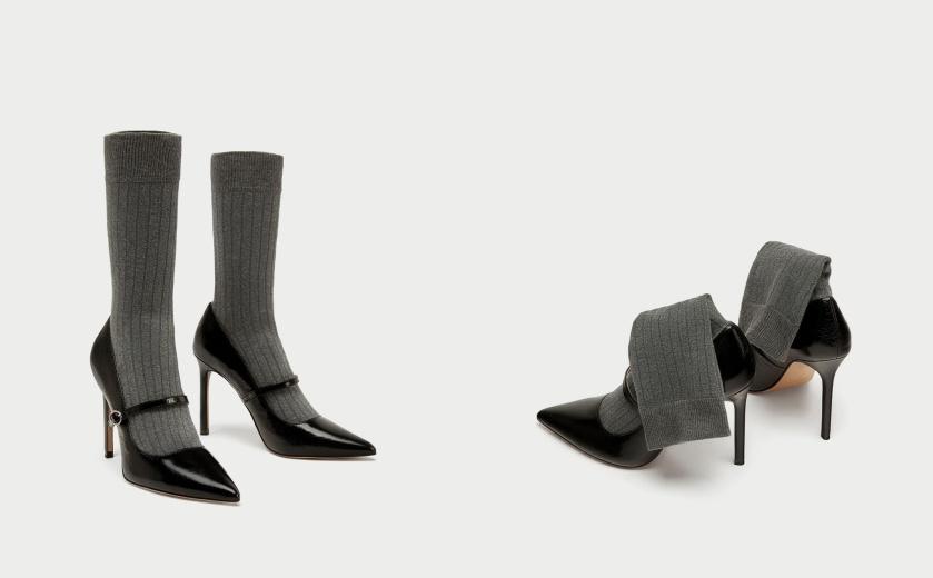 Salones tacón con calcetín 2-horz, Cuida tu imagen, Alicia Santiago, Zara, Amancio Céntrate, la tiranía del calcetín, este año todos los zapatos de zara con calcetín,
