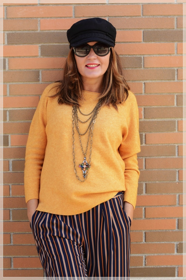 Cuidatuimagen, Polca, Mostaza, Pantalones palazo, multicollar, tendencias, trnds, must have, autumn looks, sweaters, jerseys 3