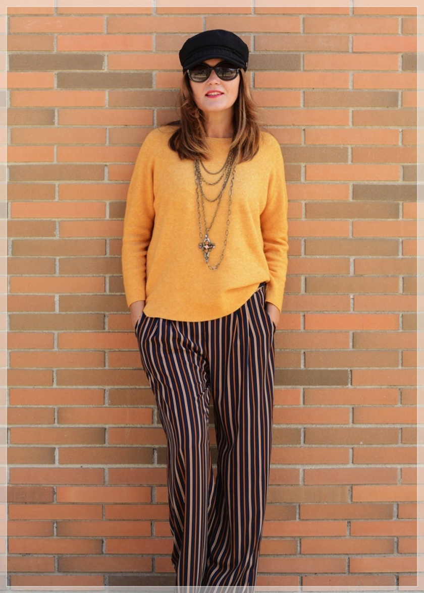 Cuidatuimagen, Polca, Mostaza, Pantalones palazo, multicollar, tendencias, trnds, must have, autumn looks, sweaters, jerseys 4