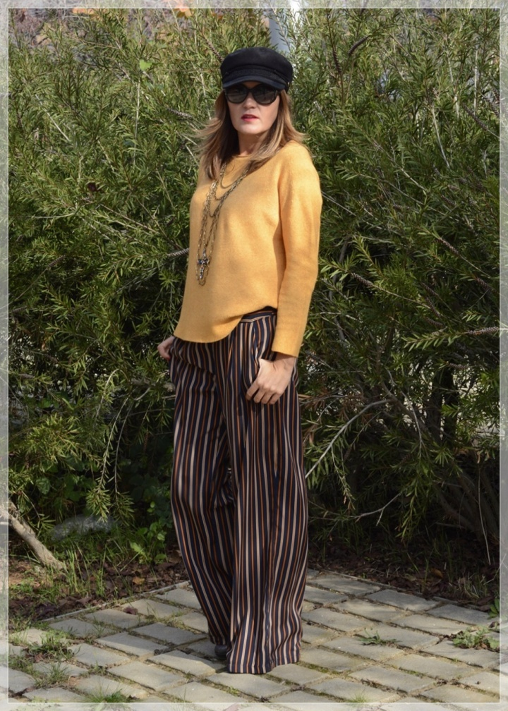 Cuidatuimagen, Polca, Mostaza, Pantalones palazo, multicollar, tendencias, trnds, must have, autumn looks, sweaters, jerseys 51