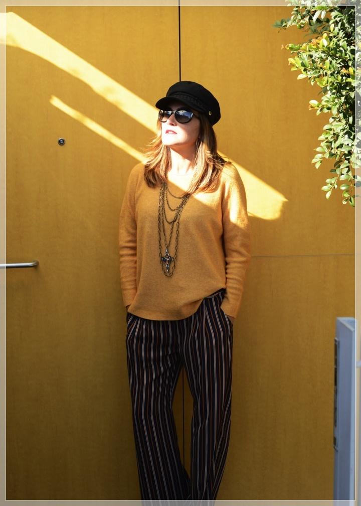 Cuidatuimagen, Polca, Mostaza, Pantalones palazo, multicollar, tendencias, trnds, must have, autumn looks, sweaters, jerseys