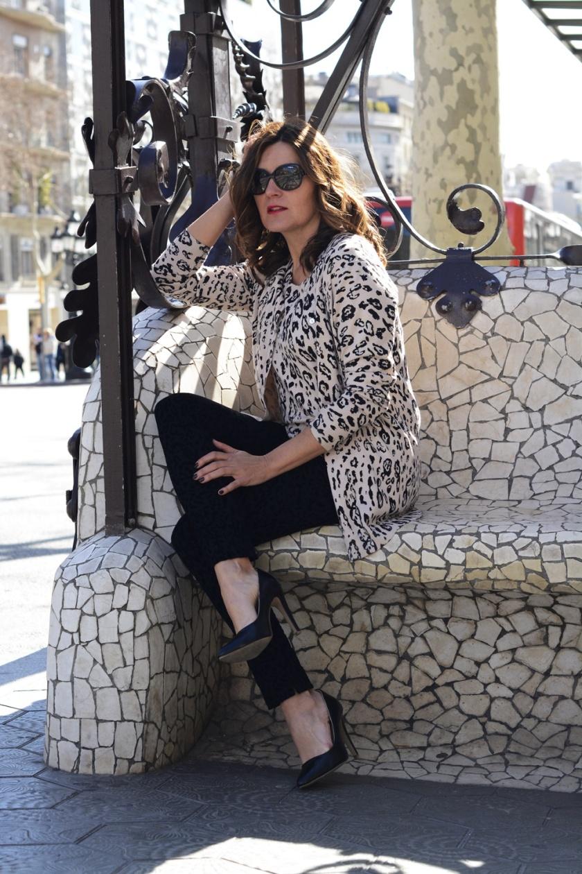 Cuida tu imagen, Anna Mora Brunella, Twin set, print animal, primavera, trends, Paseo de gracia, Barcelona 2
