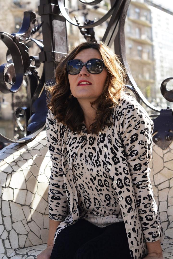 Cuida tu imagen, Anna Mora Brunella, Twin set, print animal, primavera, trends, Paseo de gracia, Barcelona 5