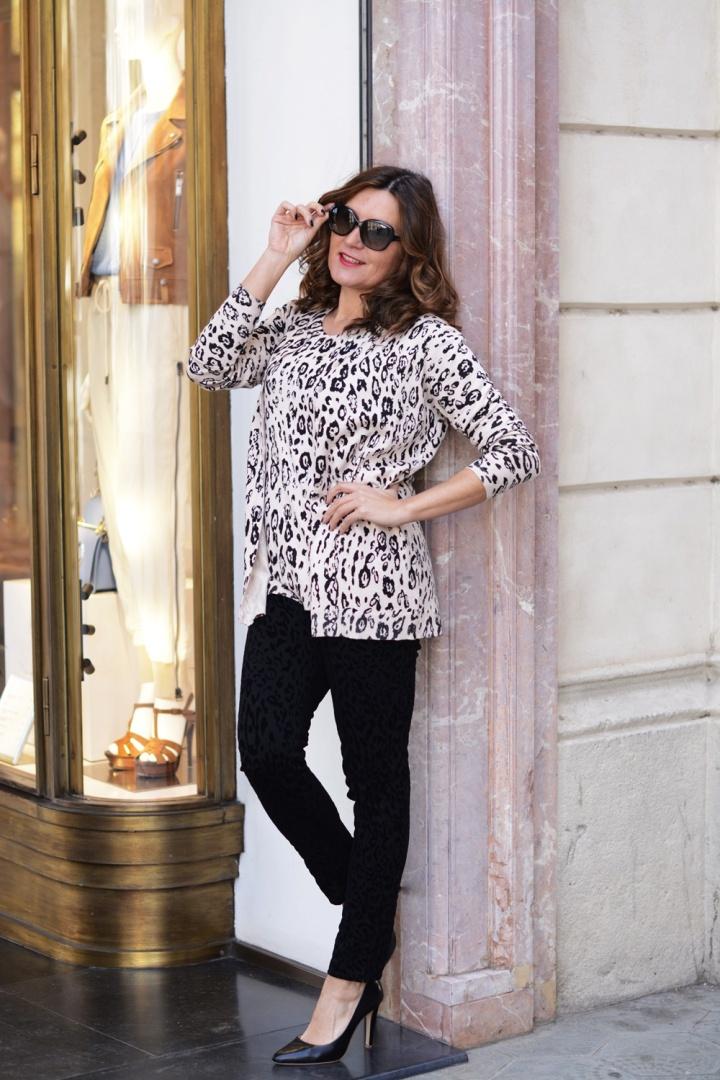 Cuida tu imagen, Anna Mora Brunella, Twin set, print animal, primavera, trends, Paseo de gracia, Barcelona 6